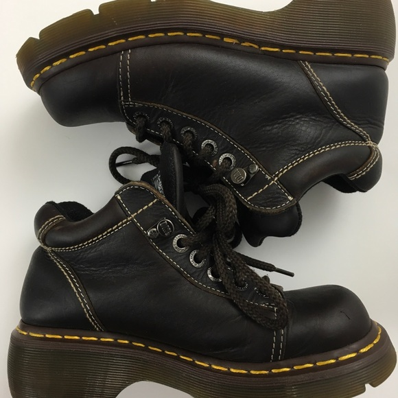 Dr. Martens Shoes - Dr Martens brown mid boots air cushioned sole 7
